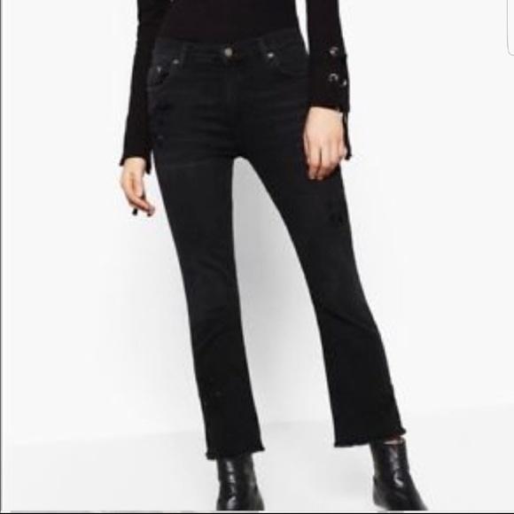2c505ed1 Zara Jeans | Cropped Flare Jean | Poshmark